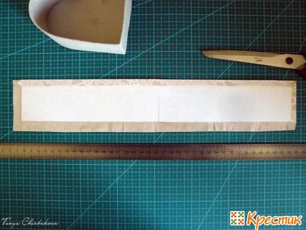 Оклеивание короба тканью снаружи