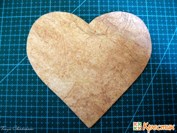 Сердце из бумаги для скрапа