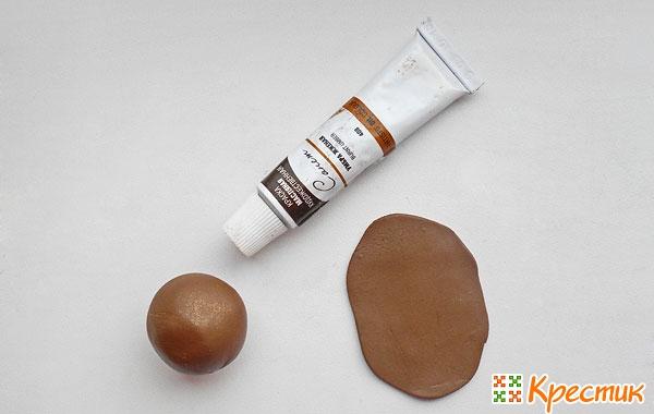 Глина коричневого цвета