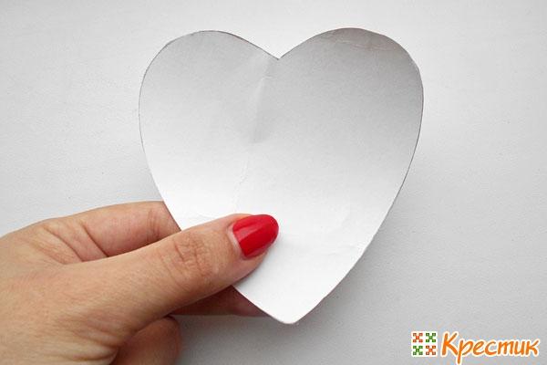 Заготовка сердечка из бумаги