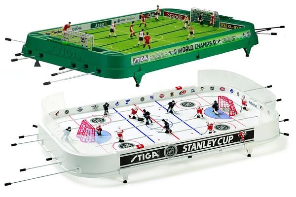 Настольный футбол и хоккей