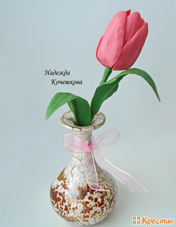 Тюльпаны из холодного фарфора