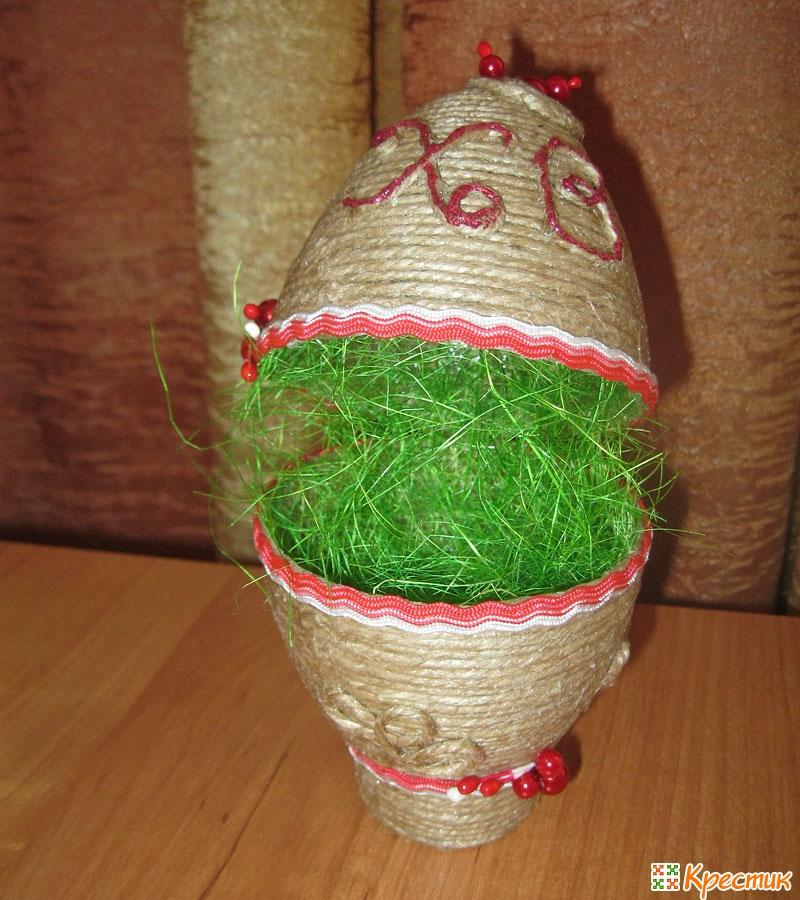 Корзинки с яйцами своими руками к пасхе из