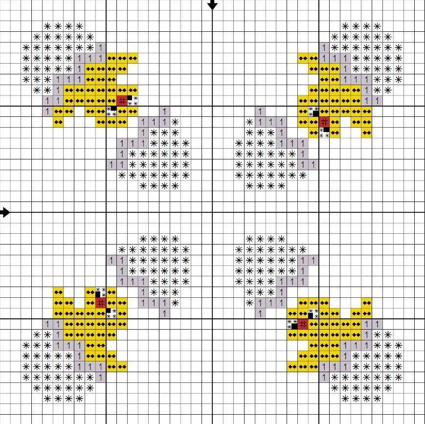 Вышивка крестом бискорню кривульки 151
