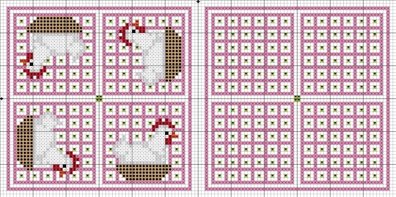 Схема Вышивки Крестом Пасхального Цыпленка