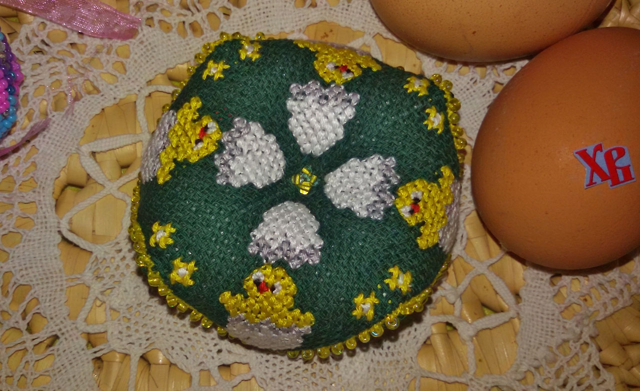 пасхальный цыпленок схемы вышивки крестом