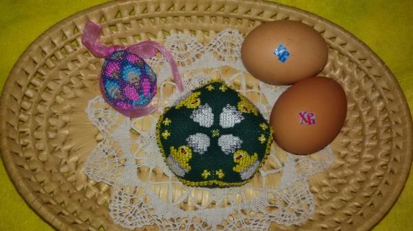 Схема вышивки бискорню с цыпленком
