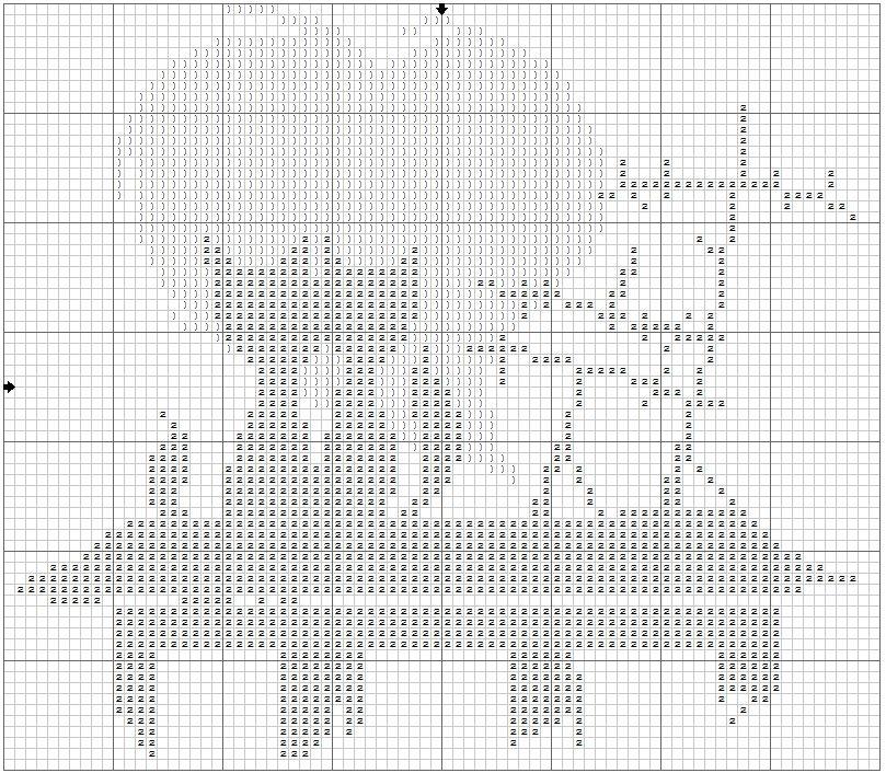 Схема вышивки кошки две кошки 27
