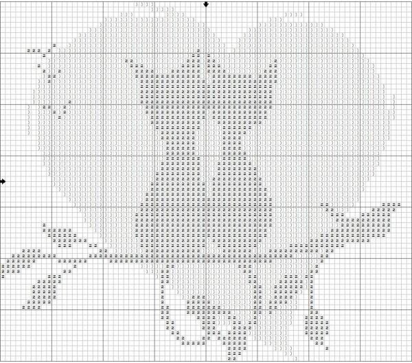 Схема вышивки кот и кошка на ветке дерева