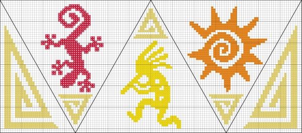 Схема вышивки берлинго Страна Четырех Углов
