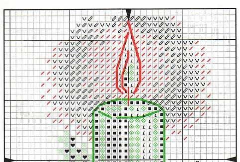 Схема вышивки свечи часть 1