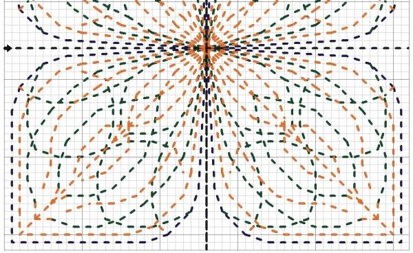 Схема вышивки бэк-ститч кривульки тюльпан