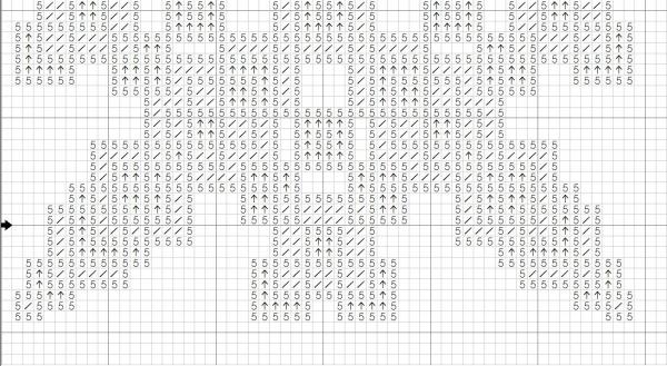 Схема вышивки крестом кривульки звезда