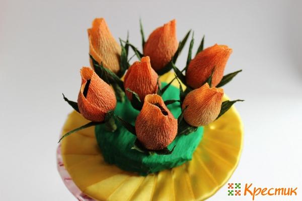 Цветы примеряем к портбукетнице