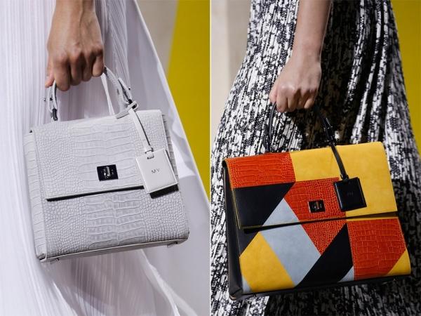 Белая и многоцветная сумки