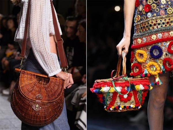 Плетеные из лозы сумки