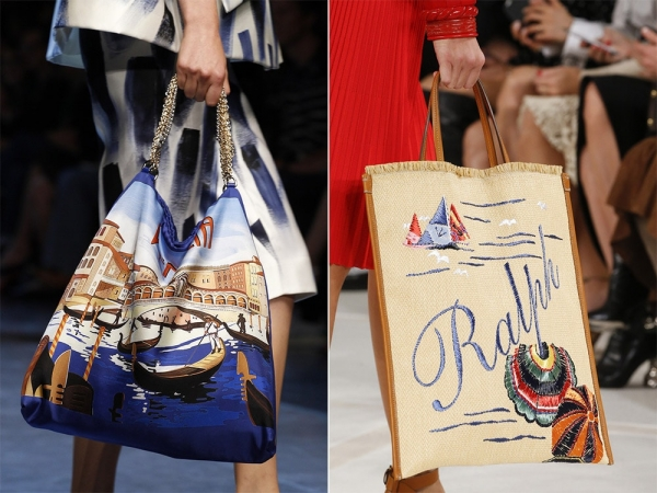 Тканевые сумки в морском стиле