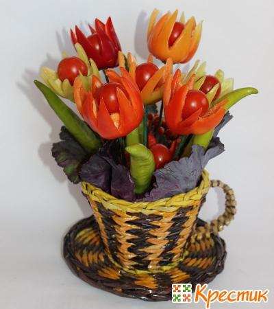 Букет тюльпанов из перца