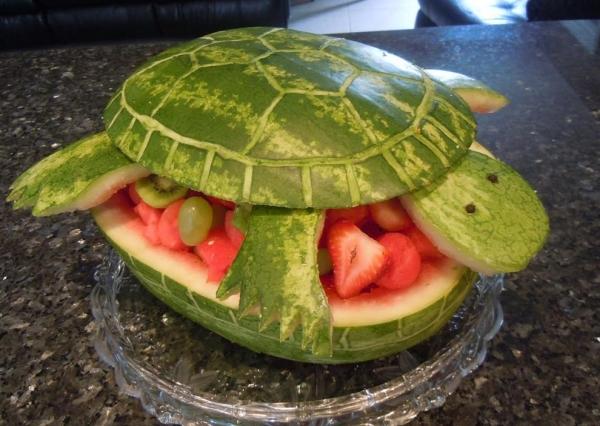 Черепаха из арбуза