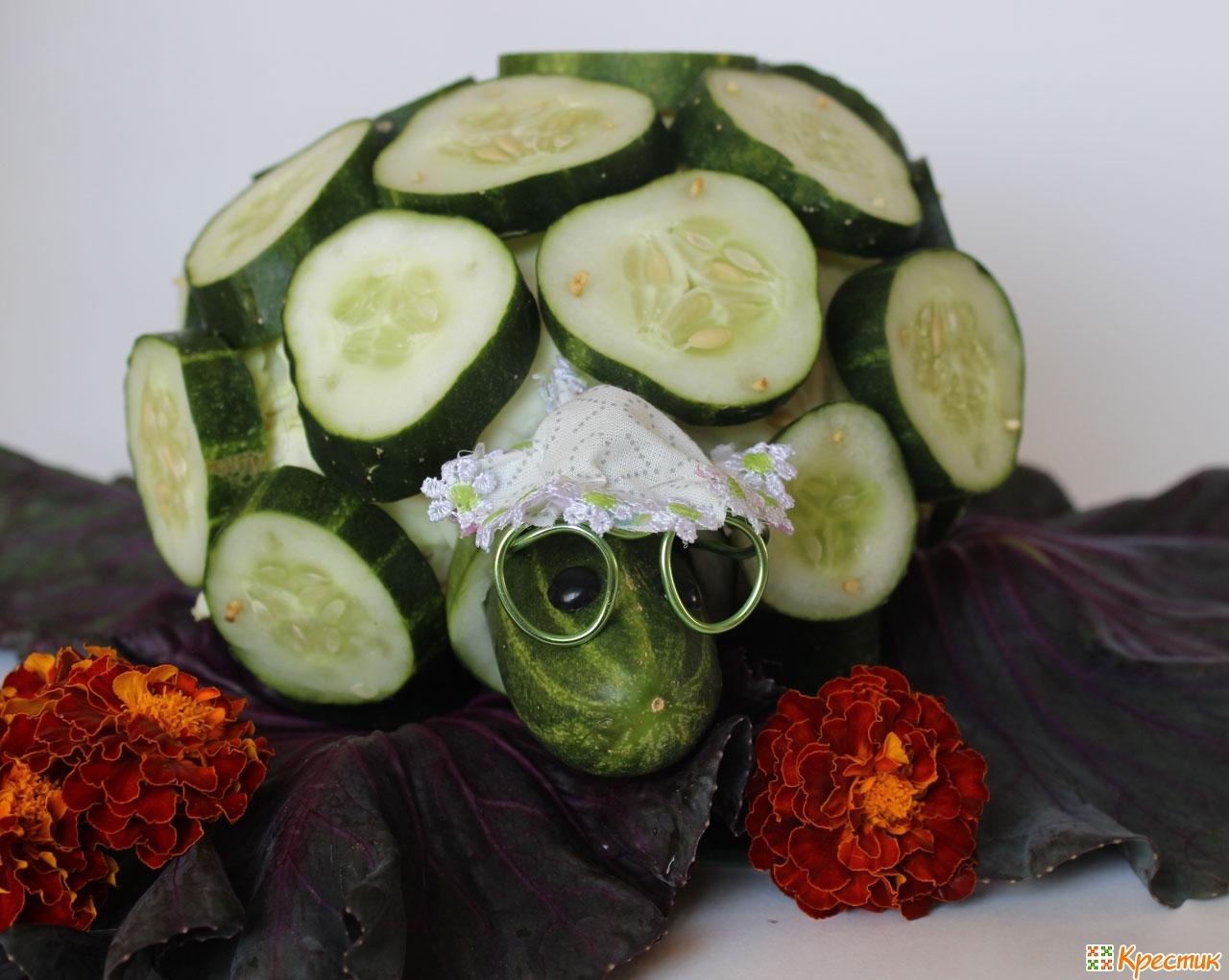 Как сохранить овощи в поделке 723
