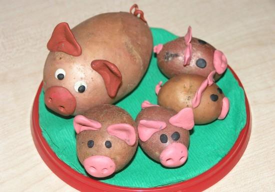 Поросята из картофеля