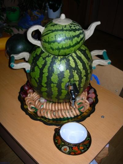 Самовар из арбуза