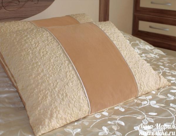 Наволочки на подушки из платья