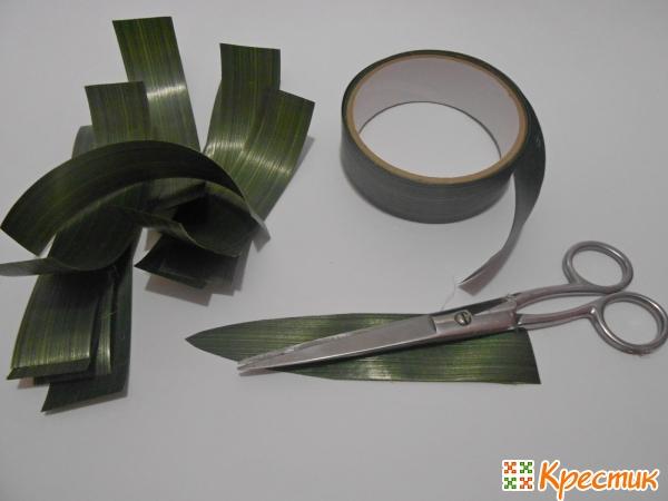 Заготовки для листьев ананаса