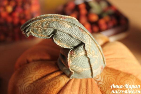 Хвостик тыквы из ткани
