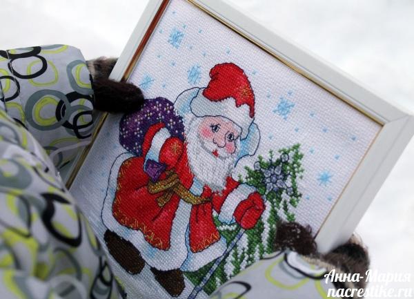Фотографируем вышивку зимой