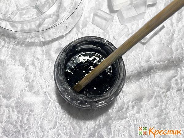 Как получить черный цвет мыльной основы