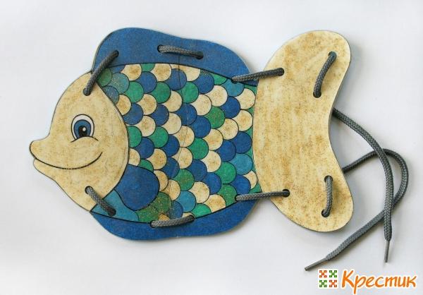 Игрушка-шнуровка рыбка