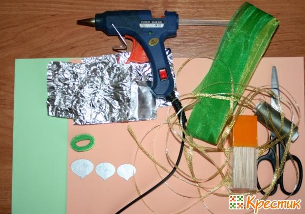 Материалы и инструменты для заколки