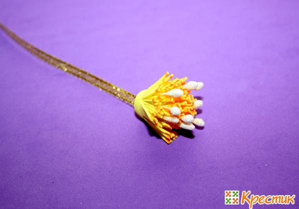 Серединка цветка из фоамирана