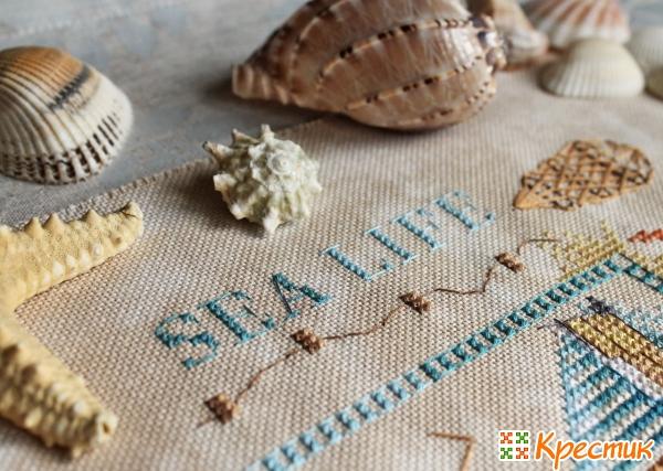 Детали вышивки Sea Life