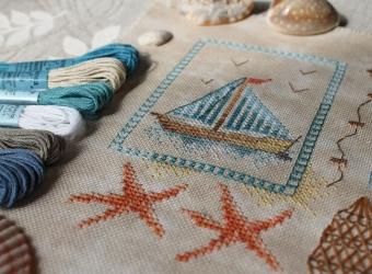 Вышивка крестом на морскую тематику