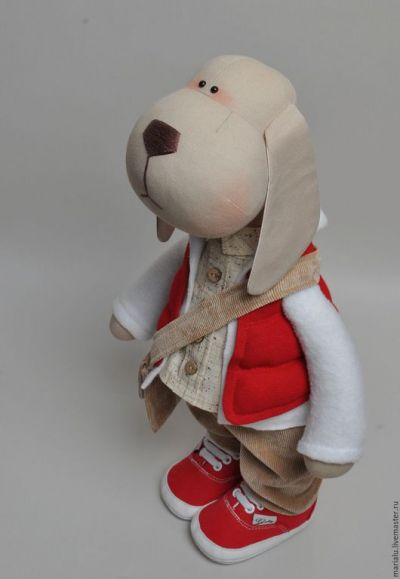 Пес из ткани