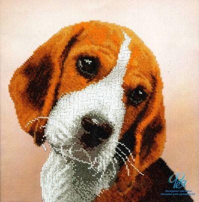 Вышивка бисером собака