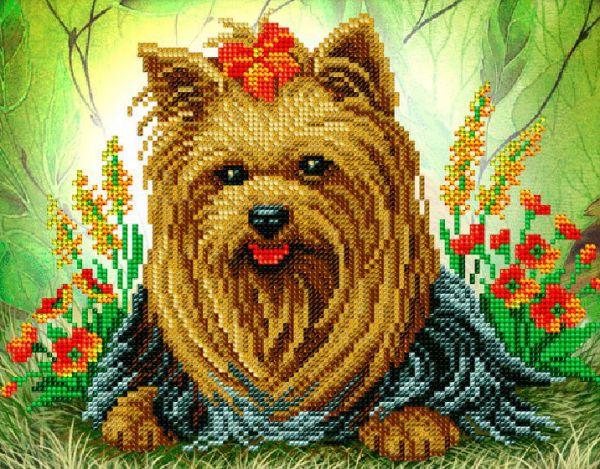 Вышивка бисером собаки