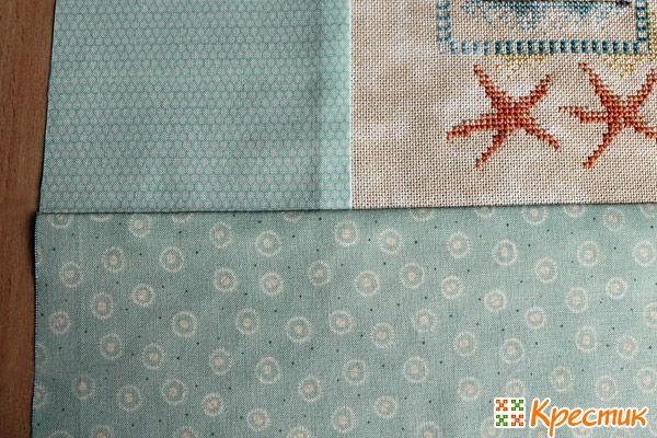 Пришиваем третью полоску ткани