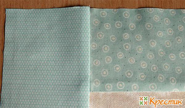 Пришиваем вторую полоску ткани