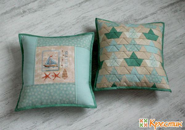 Подушки в технике лоскутного шитья