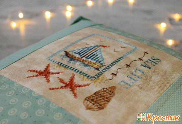 Вышивка крестом на подушке