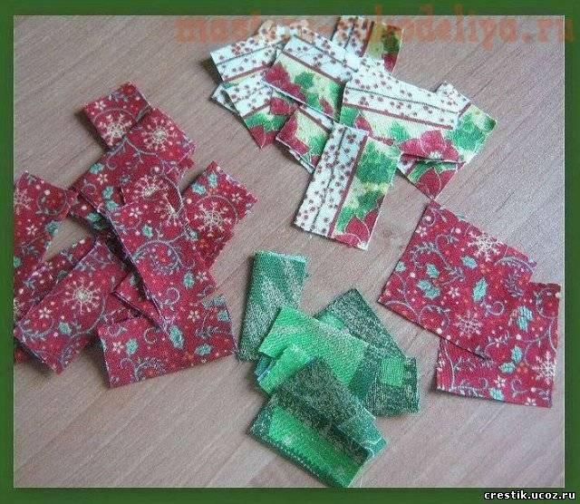 Новогодние шары из ткани