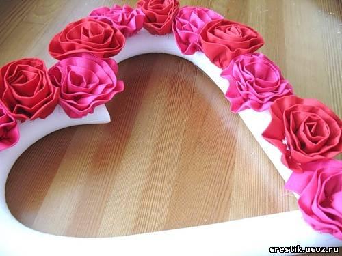 Своими руками сердце из роз