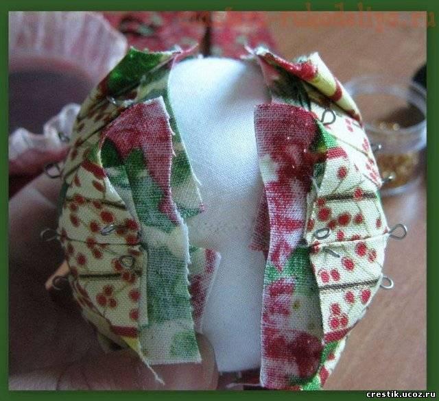 Шарик из ткани своими руками