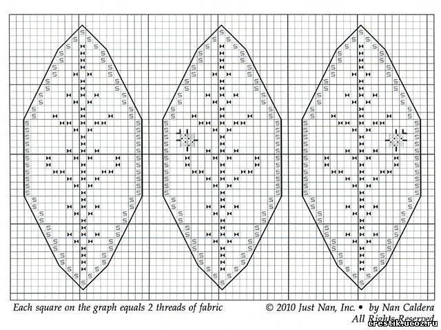Схема вышивки новогоднего шара