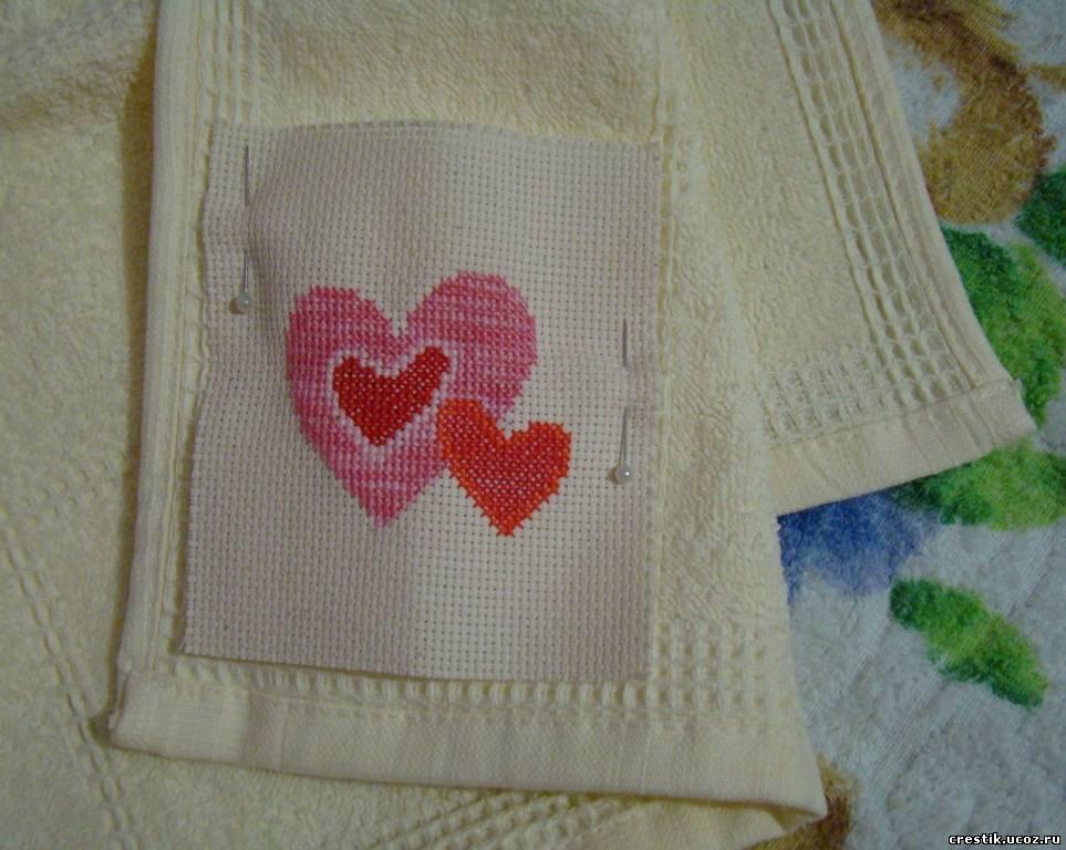 Вышивка на полотенце своими руками 77