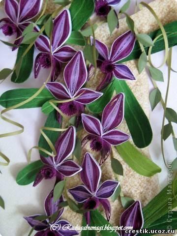 Мастер класс орхидеи в технике квиллинг
