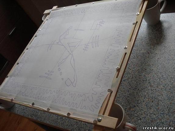 Перевести рисунок на ткань